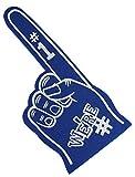 Astek We're Number #1 Finger Team Color Cheerleading Foam Hand Pompom (Blue)