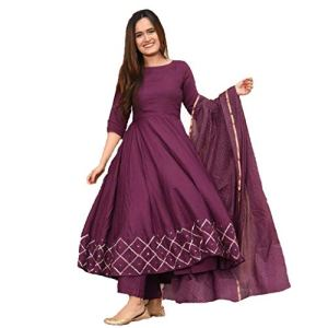 GoSriKi Other Rayon Anarkali Saree