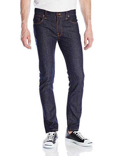 41RM%2BbLMmHL Slim-cut jean in 11-ounce comfort stretch denim featuring dark wash with color-pop orange threads Copper-tone rivets/button