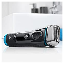 Braun Series 5 Men's Electric Foil Shaver with Wet & Dry Integrated Precision Trimmer & Rechargeable and Cordless Razor with Clean&Charge Station and Travel Case, 5195cc  Image 2