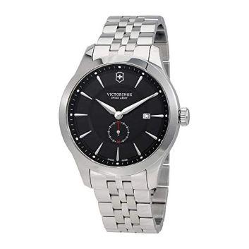 Victorinox Men's Alliance Swiss-Quartz Watch with Stainless-Steel Strap, Silver, 21 (Model: 241762)
