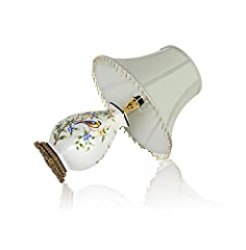 Retro hand-painted ceramic table lamp/Simple European-style garden ceramic lamp/Bedroom bedside/Living room table lamp-Dimmer switch