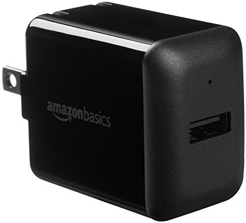 AmazonBasics One-Port USB Wall Charger (2.4 Amp) - Black