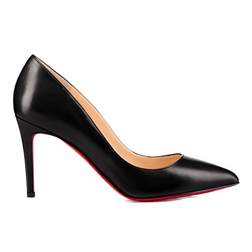 41RQNM6AtnL PUMPS CHRISTIAN LOUBOUTIN, LEATHER 100%, color BLACK, Heel 85mm, Leather sole, PIGALLE, FW17, product code 3160522BK01 FW17