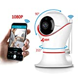 Wireless Baby Monitor 1080p for iPhone or Smart Phone, Two-Way Audio, Night Vision, Dome Surveillance Camera, Wireless Pet Camera with Motion Detection, PT 360 Degree