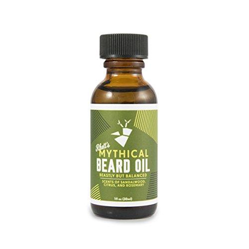 Rhett's Beard Oil - All natural - Scent of sandalwood, citrus, and rosemary - 1 fl oz bottle - Created by YouTube celebrities Rhett and Link from Good Mythical Morning