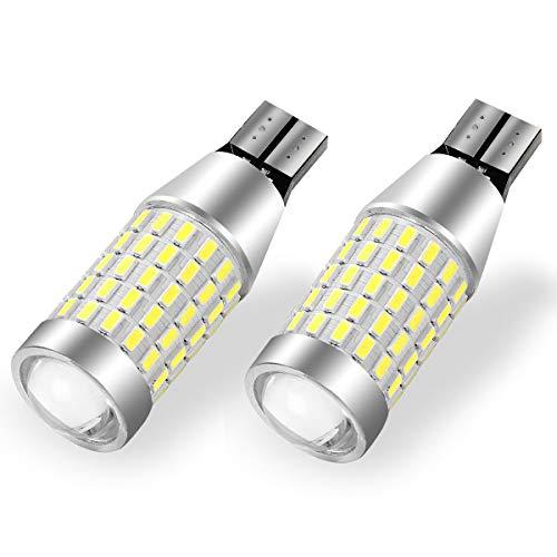 YITAMOTOR 921 LED Reverse Light Bulbs White T15 912 906 LED Replacement Bulb for Backup Lights, 12-24V, CANBUS Error Free, 2000 Lumens Super Bright, 360-Degree Shine 90-EX Chipsets 3014 SMD LED