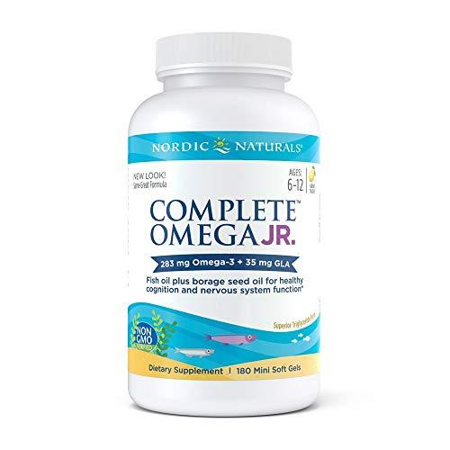 Nordic Naturals - Complete Omega Junior, Promotes Brain, Bone, and Nervous and Immune System Health, 180 Soft Gels (FFP)