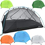 Hyke & Byke 2 Person Backpacking Tent with Footprint - Lightweight Zion Two Man 3 Season Ultralight, Waterproof, Ultra Compact 2p Freestanding Backpack Tents for Camping and Hiking (Blue)