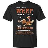 Himani Nandana First Anual WKRP Turkey Drop with Less Messman for Thanksgiving Shirt (2XL)