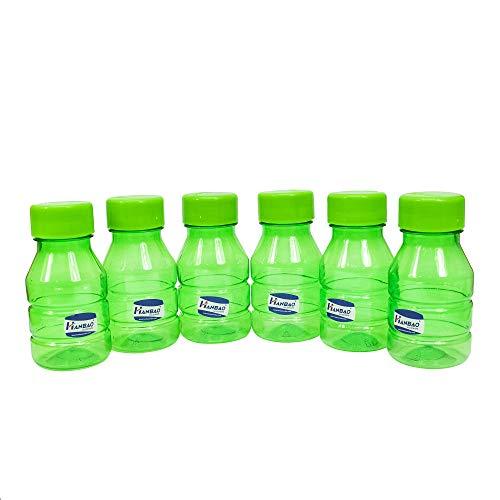 41RlUO73xCL - HANBAO Plastic Water Bottle, 250ML, Set of 6, Green