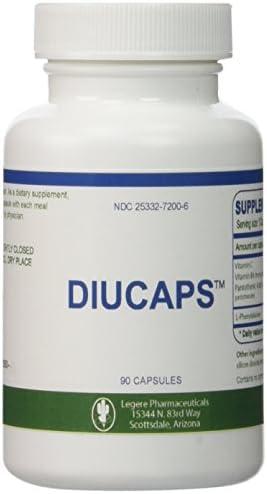 Diucaps - 90 Capsules - Appetite Suppresant / Inhibitor -- L-PHENYLALANINE, VITAMIN C, (B6), Pantothenic Acid by Legere 1