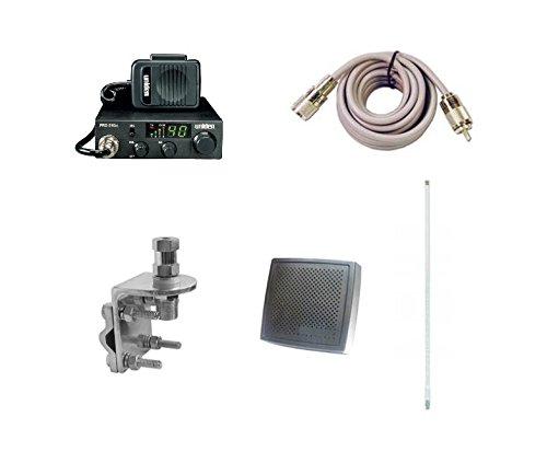 Pro Trucker Complete CB Radio Kit Includes Radio, 4' Antenna, Coax, Speaker, and Mount Full Kit Easy to Install
