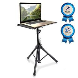 "Pyle-Pro Pro 28″-46″ Universal Device Projector, Height Adjustable Laptop, Computer DJ Equipment Stand Mount Holder, Good For Stage or Studio-Pyle PLPTS4, 28"" To 46′"