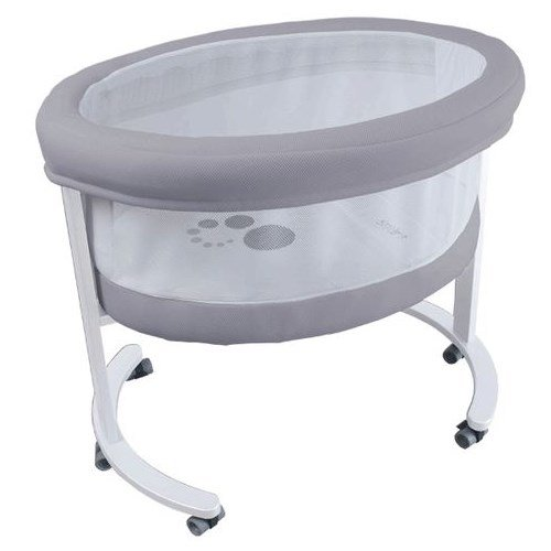 Micuna Smart Fresh Wooden and Fabric Bassinet, White/Grey