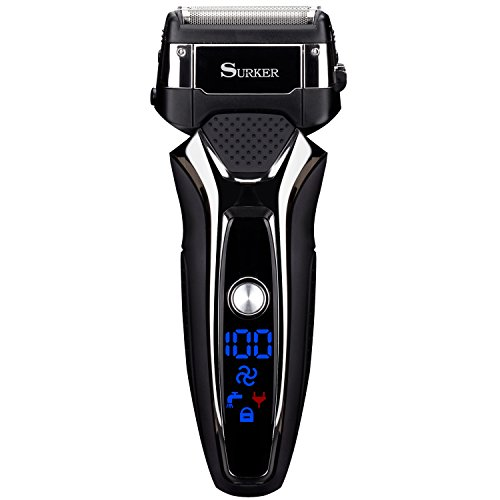 Electric Shaver for Men Wet Dry Foil Shaver Mens Electric razor USB Charge 90 Minutes Lithium Battery Life,Surker RSCW-9008