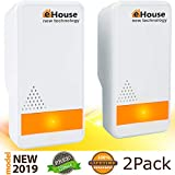 Ultrasonic Pest Repeller - (2 Pack) Electronic Plug in Best Repellent - Pest Control - Get Rid Of - Rodents Squirrels Mice Rats Insects - Roaches Spiders Fleas Bed Bugs Flies Ants Mosquitos Fruit Fly!
