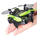zuhafa Z2HC Mini Drones with Camera, Foldable Pocket Quadcopter for Kids Gift,Nano RC Drone with Altitude Hold 3D Flips and Headless Mode Easy to Fly for Beginners(Black)