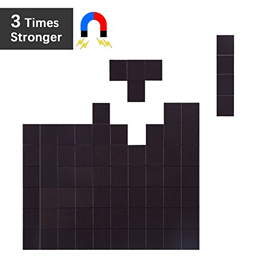 Flexible Magnet Squares with Adhesive by House Again - Each 20x20x2mm - Perfect for Crafts & DIY Projects, Hanging & Organizing Light Objects at Home Office or Warehouse, 70Pcs