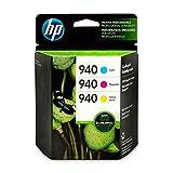HP 940 Cyan, Magenta & Yellow Ink Cartridges, 3 Cartridges (C4903AN, C4904AN, C4905AN)