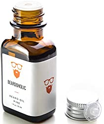 BEARDOHOLIC Premium Quality Beard Oil and Leave-in Conditioner, Softener, Pure Organic Natural, Pine Scented, Promotes Beard Growth and Stops Itchiness  Image 1