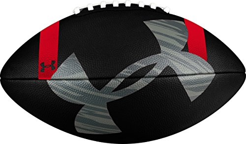 Under Armour 295 Composite Football, Black/Steel Red, Junior Size