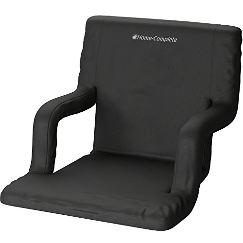 Home-Complete Stadium Seat Chair- Wide Bleacher Cushion with Padded Back Support, Armrests, 6 Reclining Positions and Portable Carry Straps