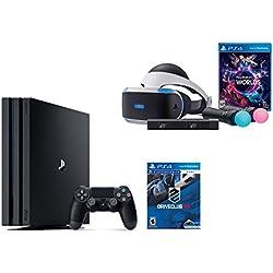 PlayStation VR Launch Bundle 3 Items:VR Launch Bundle,PlayStation 4 Pro 1TB,VR Game Disc PSVR DriveClub