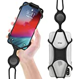 Universal Cell Phone Lanyard Holder, Silicone Neck Strap Smartphone Case for iPhone Xs Max XR X 8 7 6S Plus Samsung Galaxy S10 S9 S8 Note 9 Pixel 3 XL, Phone Tie Series (Black)