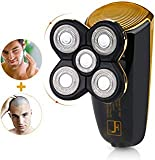 Wet Dry Men's Shaver Bald Head Shaver,2 in 1 Professional Cordless Electric Waterproof Rotary Shaver Bald Head Shaver for Man with 5 floating head,fast USB Recharge Trimmer for Travel Or Home