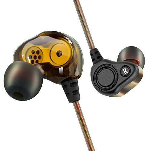 BYGZB Earphones Wired Noise Cancelling in Ear Headphones Earbud High Resolution Heavy Bass with Mic