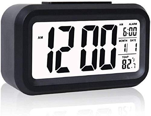 Case-Plus-Digital-Smart-Backlight-Battery-Operated-Alarm-Table-Clock-with-Automatic-Sensor-Date-Temperature-White-Alarm-Clock-1-Pack-Black-Black-Alarm