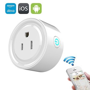 Wifi Smart Plug, Mengyasi Mini Smart Socket Compatible with Alexa with Timing Function, Switch On/Off your Electric Equipment from Anywhere via Smartphone or Tablets, No Hub Required