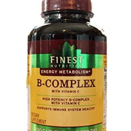 Finest Nutrition B-Complex with Vitamin C, High Potency; 200 Caplets …