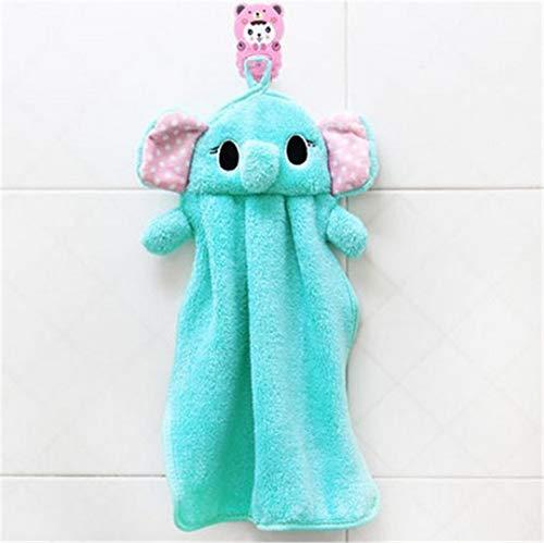 Alexlove Towels Bathroom Hanging Wipe Bath Towel Beach Towel Multifunction Soft Plush Fabric Kitchen Hand Towel Blue