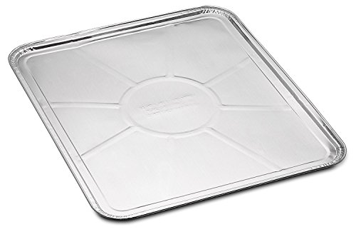 10-Pack Disposable Foil Oven Liners by DCS Deals - Keep Your Oven Clean and Healthy - Perfect Silver Foil Drip Pan Tray for Cooking, Baking, Roasting, and Grilling- 18.5 x15.5' inch