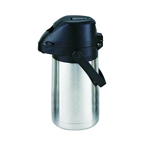 41SPgYZeglL - Cello Piper Stainless Steel Airpot Flask, 2 Liters, Silver