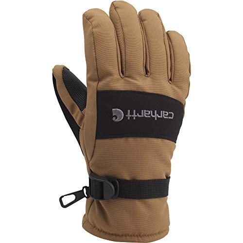 Carhartt Men's W.p. Waterproof Insulated Work Glove, Brown/Black, X-Large