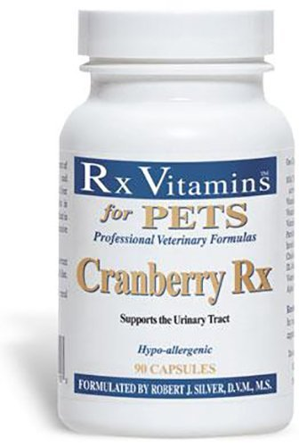 Rx Vitamins for Pets Cranberry Rx for Dogs & Cats - Urinary Tract Support - Hypoallergenic Veterinary Formula - 90 Capsules