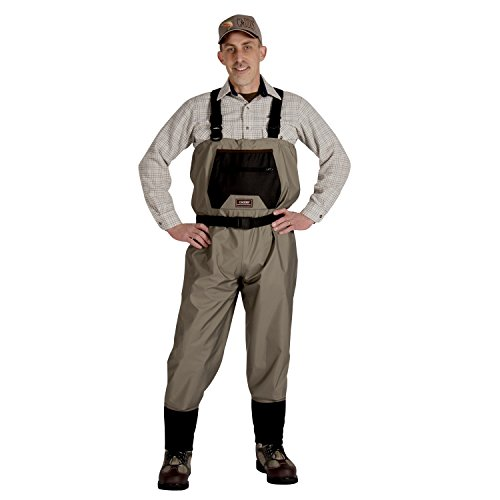 Caddis Men's Taupe Affordable Breathable Stocking Foot Wader, Medium Stout