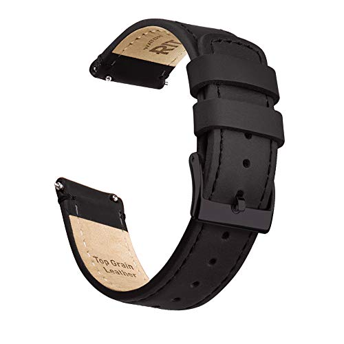 Ritche Quick Release Leather Watch Band Top Grain Leather Watch Strap 18mm 19mm 20mm 21mm 22mm 23mm or 24mm for Men