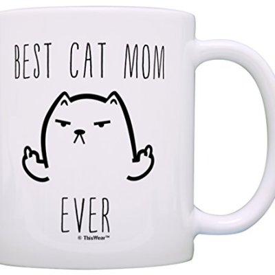 Best Cat Mom Ever Best Cat Dad Ever Bundle Novelty 2 Pack Gift...