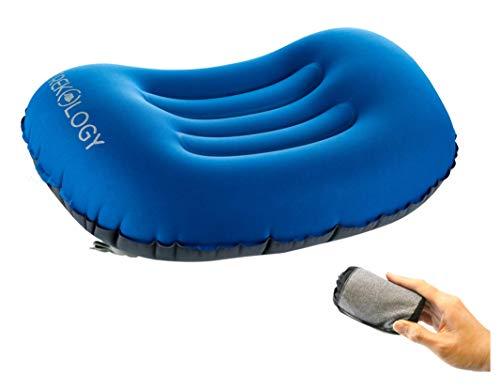 Trekology ALUFT Comfort Ultralight Inflating Travel/Camping Air Pillows (deep Blue)