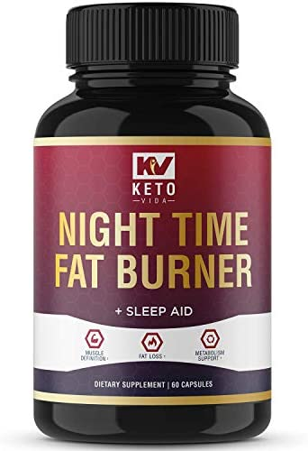 Keto Vida Weight Loss Fat Burner for Night Time to Suppress Appetite and Reduce Cravings; 30 Servings 3