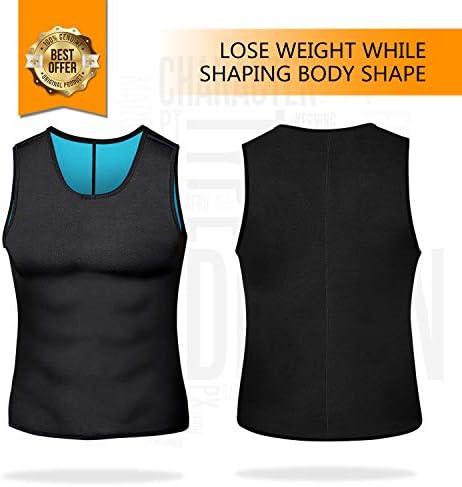 Men Neoprene Waist Trainer Sauna Sweat Suit Workout Vest Tank Top Tummy Control Shapewear Slimming Body Shaper 5