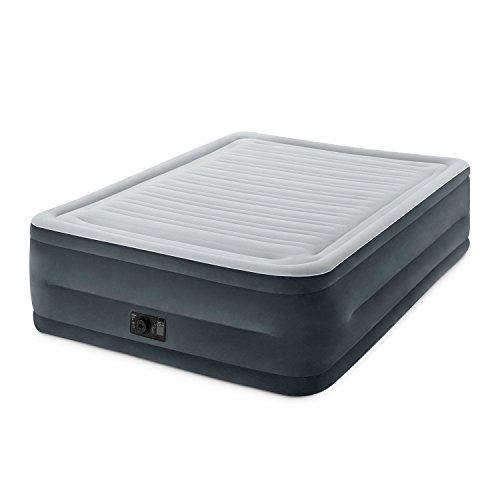 Intex Comfort Plush Elevated Dura-Beam Airbed with Built-in Electric Pump, Bed Height 22', Queen
