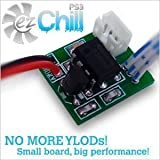 EZ Chill PS3 BEST Cooling Fan Controller Mod Kit - BETTER THAN INTERCOOLER - Prevent Repair YLOD RLOD Overheating Playstation 3 - FAT - SLIM - SUPER SLIM