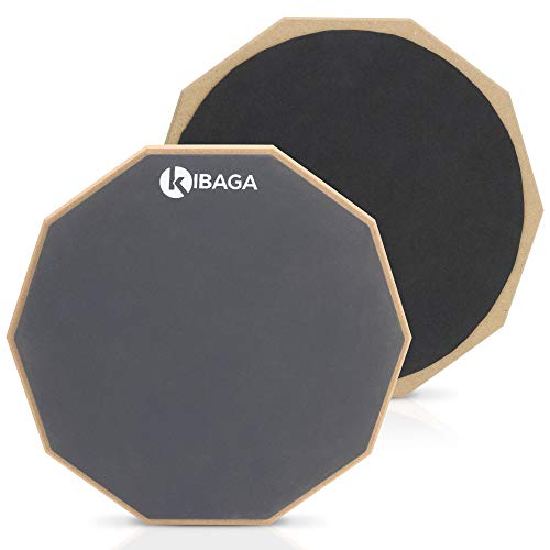 Double Sided Drum Pad 12' - Silent Drum Practice Pad Provides A Great Rebound - Perfect Snare Drum Pad For Quiet Workouts On Snare Drums And On Your Lap