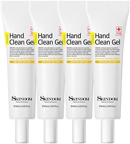 Hand Sanitizer Clear Gel with Aloe Vera and Moisturizing Brokers, Kills 99.99% of Germs, (four Pack x 2 Fl Oz)
