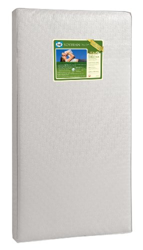 "Sealy Soybean Foam-Core Toddler & Baby Crib Mattress – Lightweight Hypoallergenic Soy Foam, Air Quality Certified Foam, Durable Waterproof Cover, Extra Firm, Design Pattern May Vary, 51.7"" x 27.3"